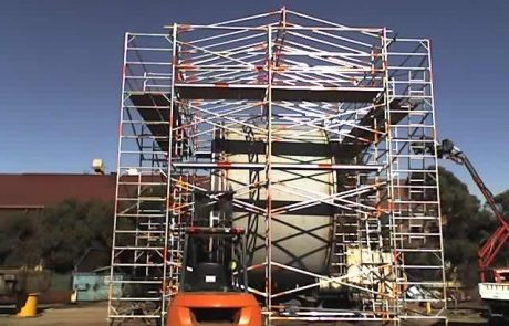 General purpose scaffolding shade structure